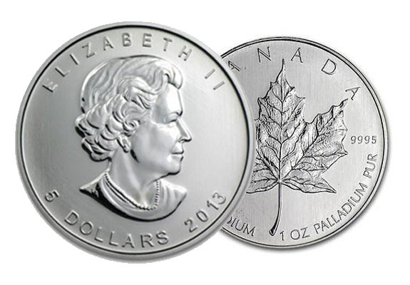 Canadian Maple Leaf Palladium Coins | American Bullion